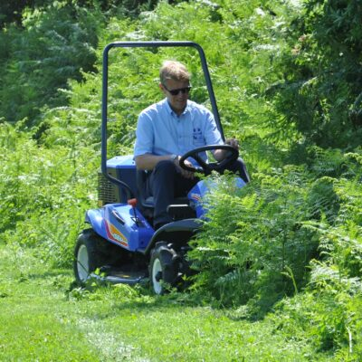 Iseki SRA800 Ride on Brushcutter available at Nigel Rafferty Groundcare, Cornwall