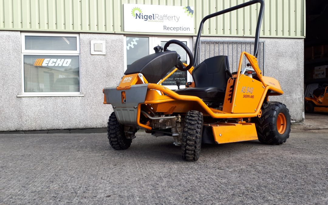 AS MOTOR EX-HIRE SHERPA RIDE-ON BRUSHCUTTERS FOR SALE.  NOW SOLD!