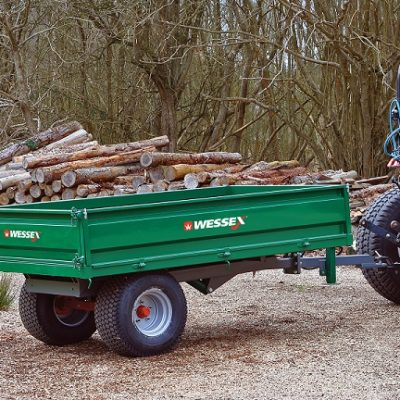 Wessex Hydraulic Tipping Trailers available at Nigel Rafferty Groundcare