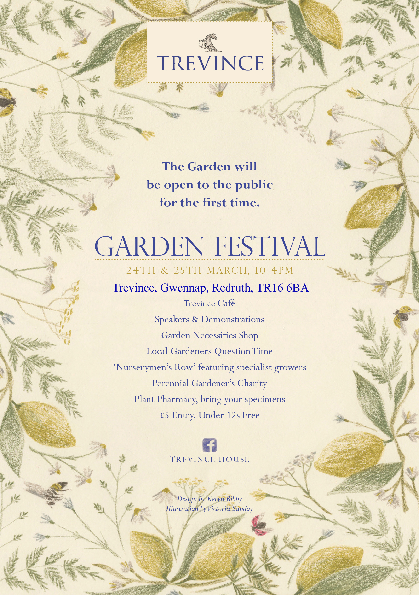 TREVINCE GARDEN FESTIVAL – 24-25 MARCH 2018 – COME AND SEE US THERE!