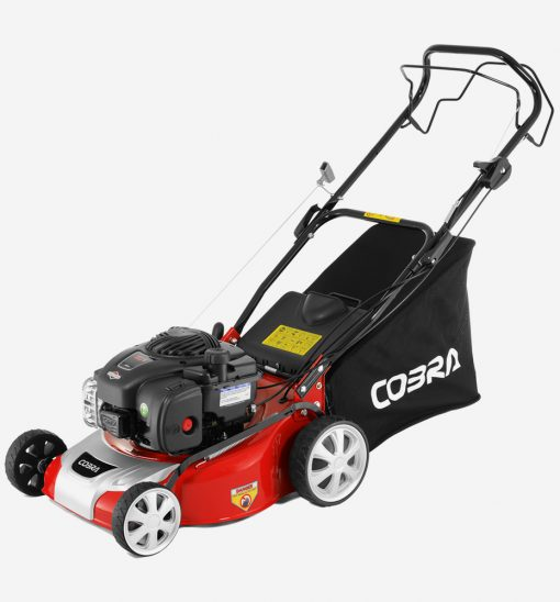 Cobra Petrol Pedestrian Mower available at Nigel Rafferty Groundcare