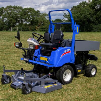 Iseki SF224 Out Front Mower with tool storage box available at Nigel Rafferty Groundcare, Cornwall