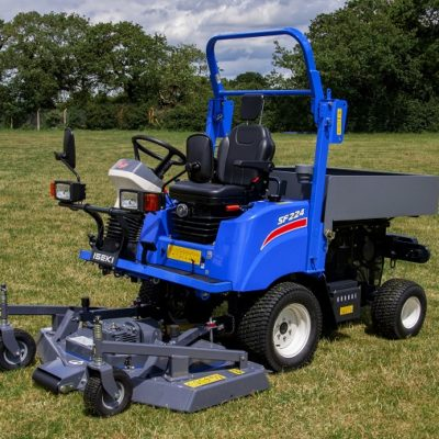 Iseki SF224 Out-front Mower with tool storage box available at Nigel Rafferty Groundcare, Redruth